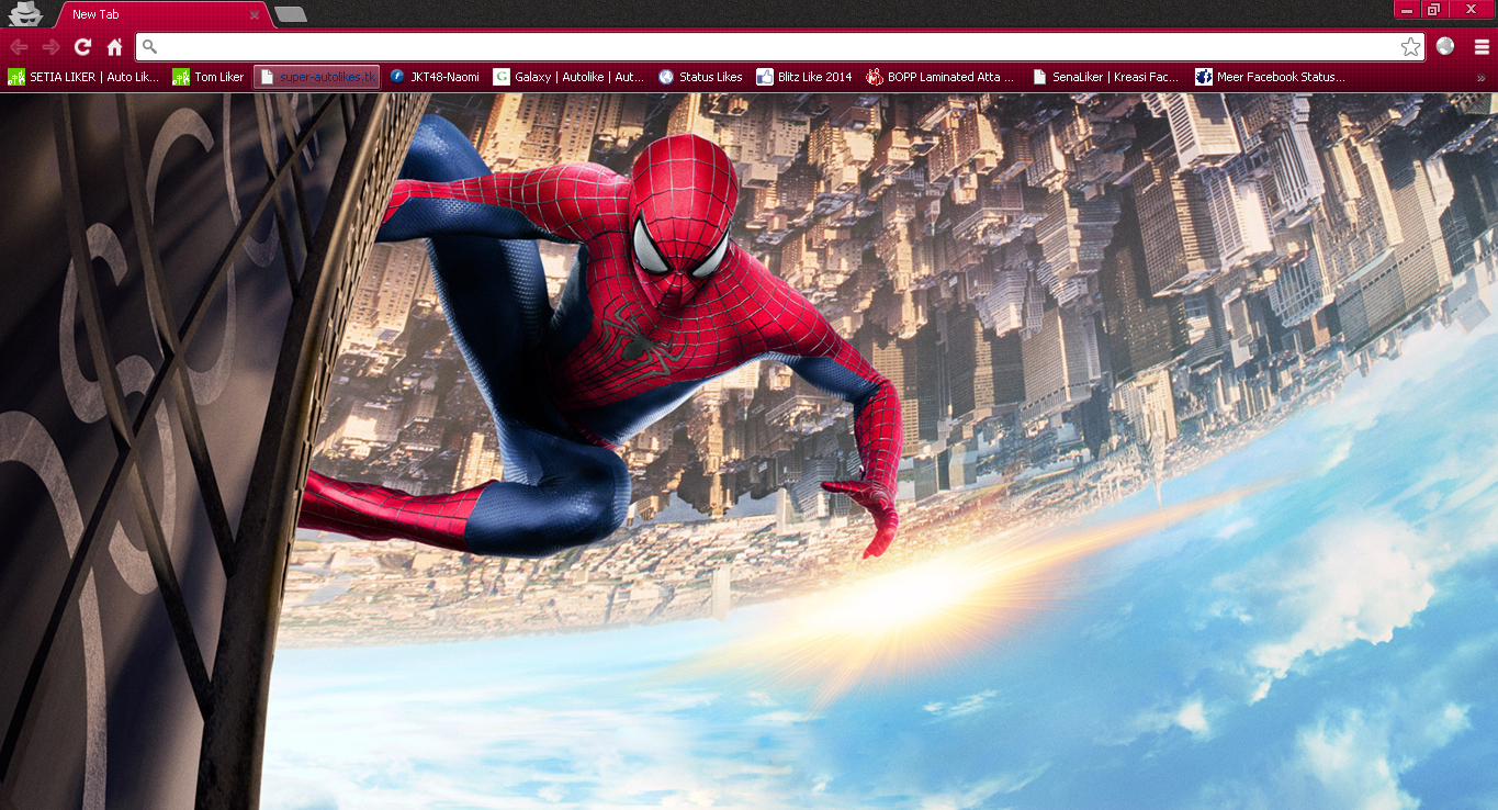 The Amazing Spider Man 2 Google Chrome Theme