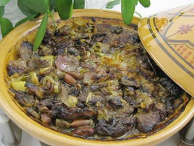 طريقة عمل الطاجين المغربي باللحم والبرقوق, الطاجين المغربي, اللحم والبرقوق, طاجين اللحم