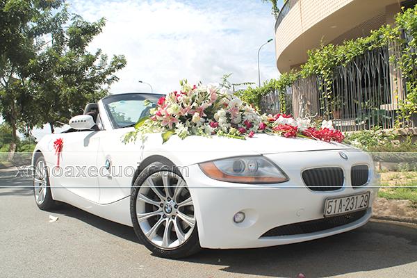 Hình xe hoa đẹp màu trắng BMW Z4