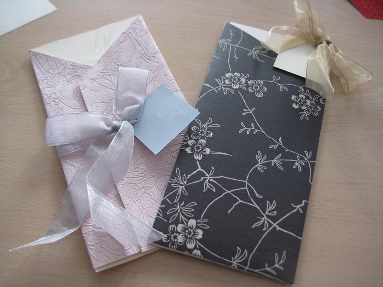 Invitaciones de boda con papel for Modelos de papel pintado