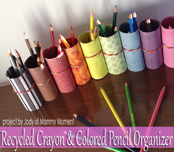 Make A Recycled Tp Roll Crayon Colored Pencil Organizer Creative
