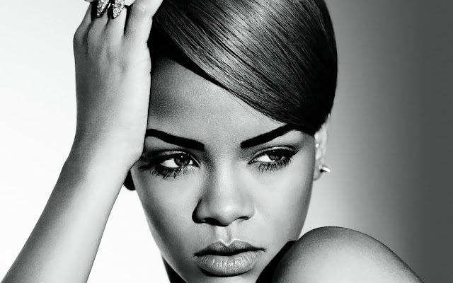 zwart wit rihanna wallpaper