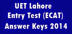 uet answer keys 2014