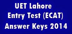 uet answer keys 2014