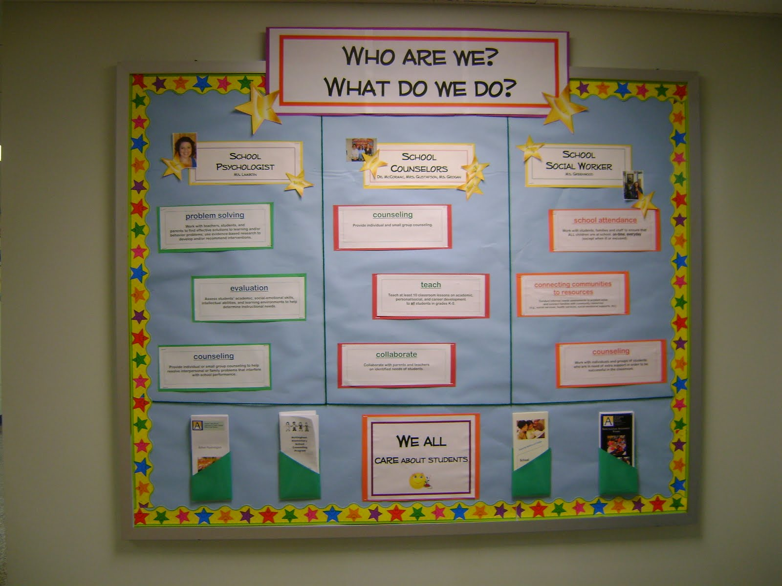 Bulletin Boards Outside Counseling Office