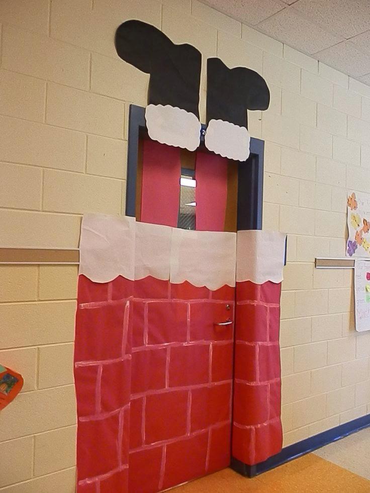 Decorating Ideas > Aprender Brincando Decoração De Natal Para Porta Da Sala  ~ 094622_Elementary Door Decorations Ideas For Christmas