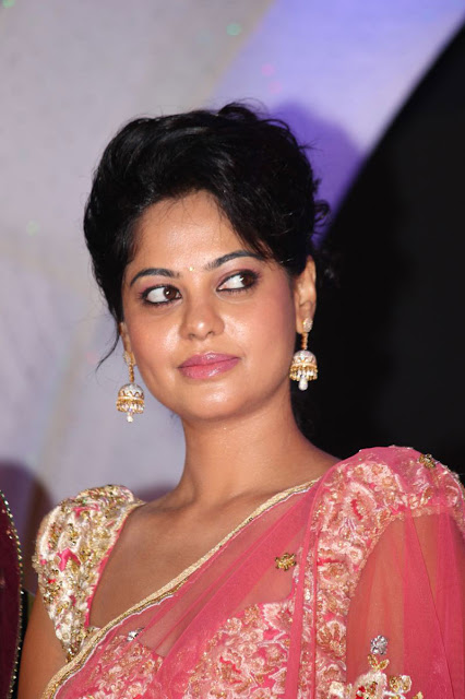Actress Bindhu Madhavi Pink Saree Photos