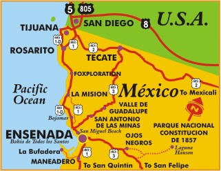 Plan Your Escape World Travel Adventures Unhook Now For Life - Google maps us border to rosarito mexico