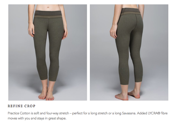 lululemon refine crop
