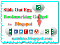 Nút Share trượt hình quả trứng cho blogspot
