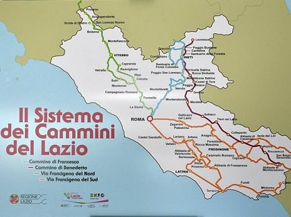Alcuni Cammini Religiosi nel Lazio