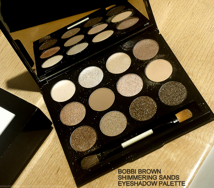 Bobbi Brown Shimmering Sands Eyeshadow Palette Sandy Nudes Lipstick Lipgloss Swatches