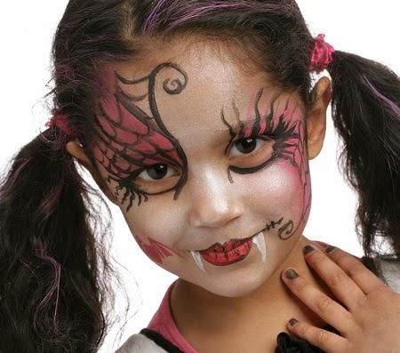 Caras pintadas para ni as dise o draculina for Caras pintadas para halloween