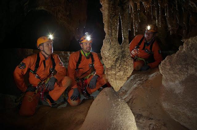 Cavenauts explore the cave. Credit: ESA/V. Crobu