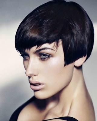 cabello corto flequillo