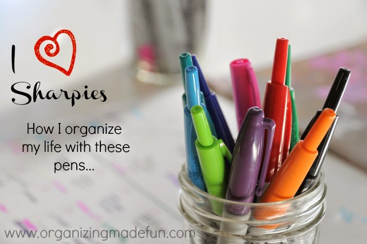 I {heart} Sharpies :: OrganizingMadeFun.com