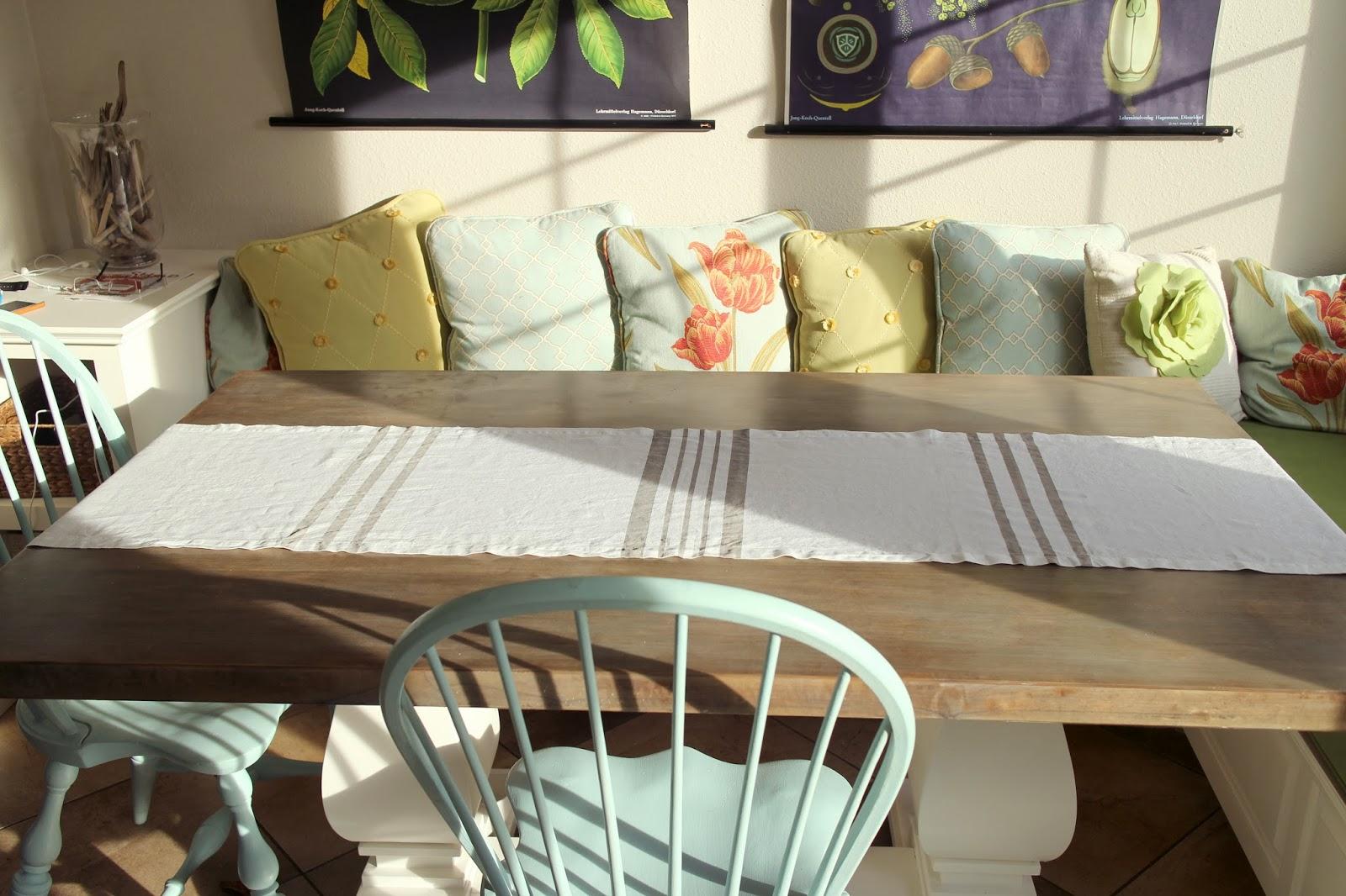 How To Make A Custom Striped Table Runner The Impatient Gardener - Custom dining room table runners