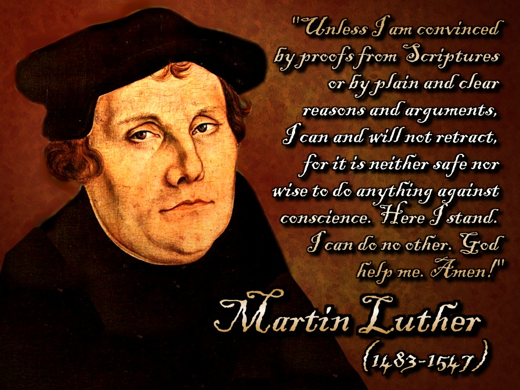 martin luther writings