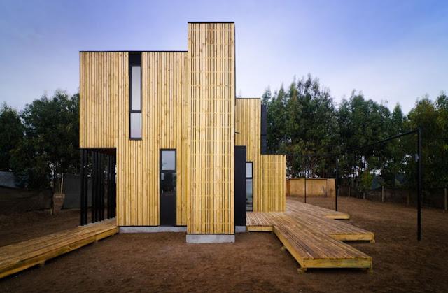 Casa de madera prefabricada en santo domingo espacios en - Casa de madera prefabricada ...