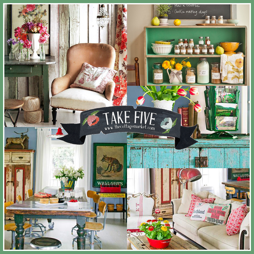 Decorating with vintage the cottage market for Decoration retro