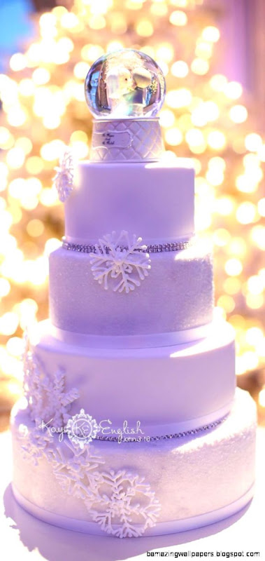 Stunning winter wonderland wedding cake  Tiers of Joy  Pinterest