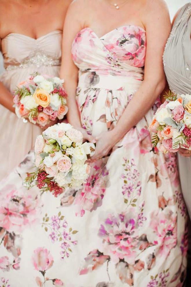 Floral print wedding