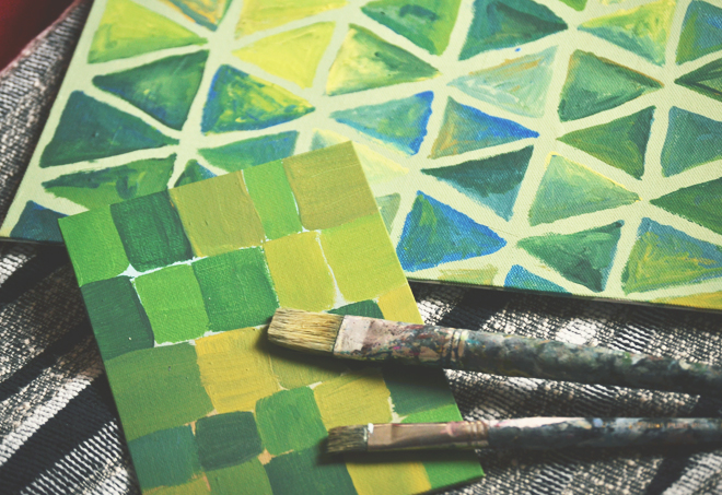 The Flying Clubhouse: Around the Clubhouse // green painting