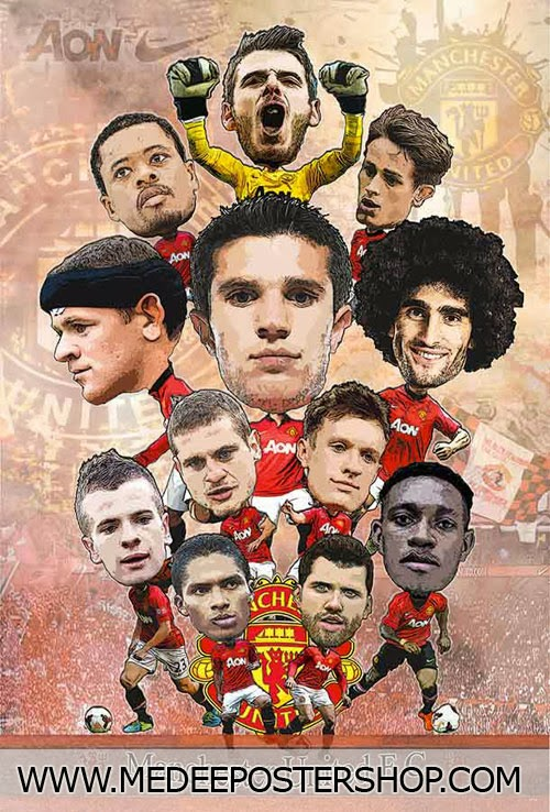 Man U Cartoon 2014 Poster