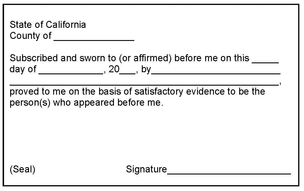 24Notary Mobile Notary San Jose Milpitas Differences between – Sample Notary Statements