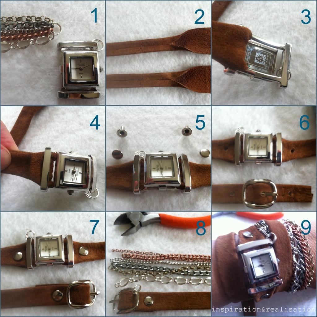 Как сделать ремешок на часы своими руками фото