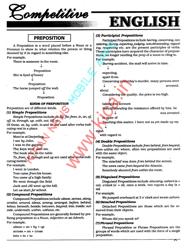 Basic English Grammar Full Capsule for Competitive Exams PDF Exam Tyaari