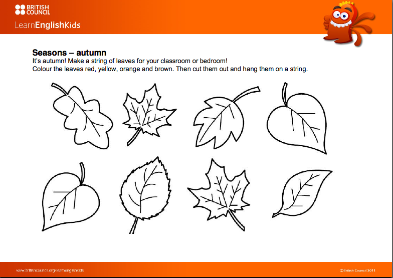 Inglés para niños: AUTUMN LEAVES ARE FALLING DOWN