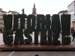 Escultura vegetal Vitoria-Gasteiz, vista frontal