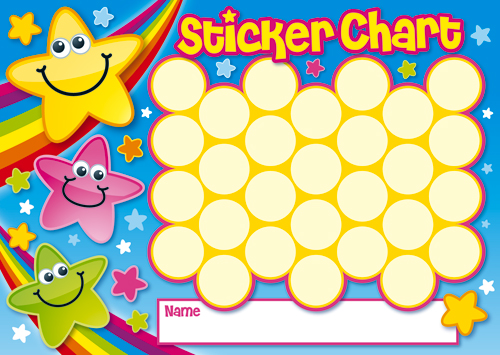 Wild image inside sticker chart printable