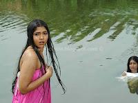 Muktha, (, bhanu), in, wet, bathing