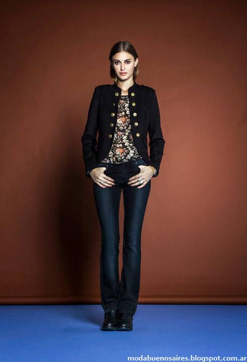 Pantalones de jeans moda invierno 2014 Estancias Chiripá.