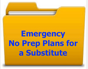 Emergency no prep lesson plans Charlene Tess