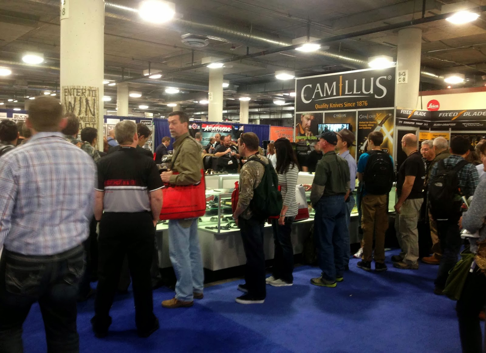 Rocky mountain bushcraft shot show 2014 first impression review -  Hours Conversing With Fans And Sharing Survival Stories At The Camillus Knives Booth On The Second Day Of Shot Show Posted By Rocky Mountain Bushcraft