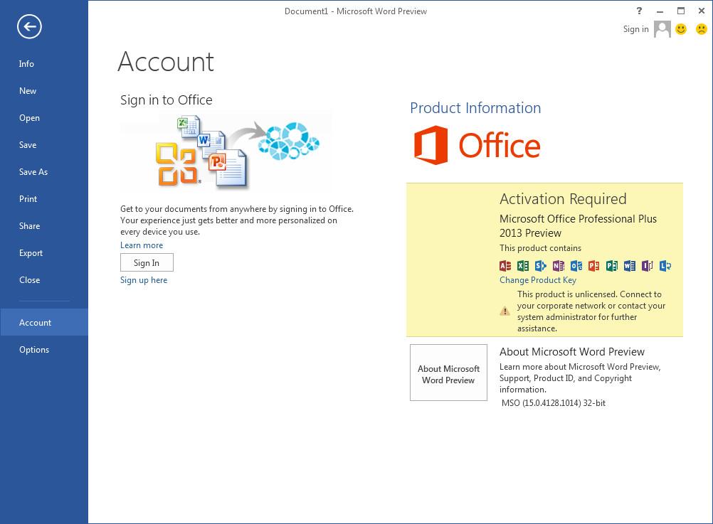 Microsoft Office 2013  скачать бесплатно русскую версию