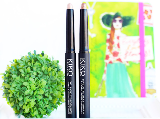 Kiko Long Lasting Eyeshadow Sticks in #6 Golden Brown and #7 Golden Beige