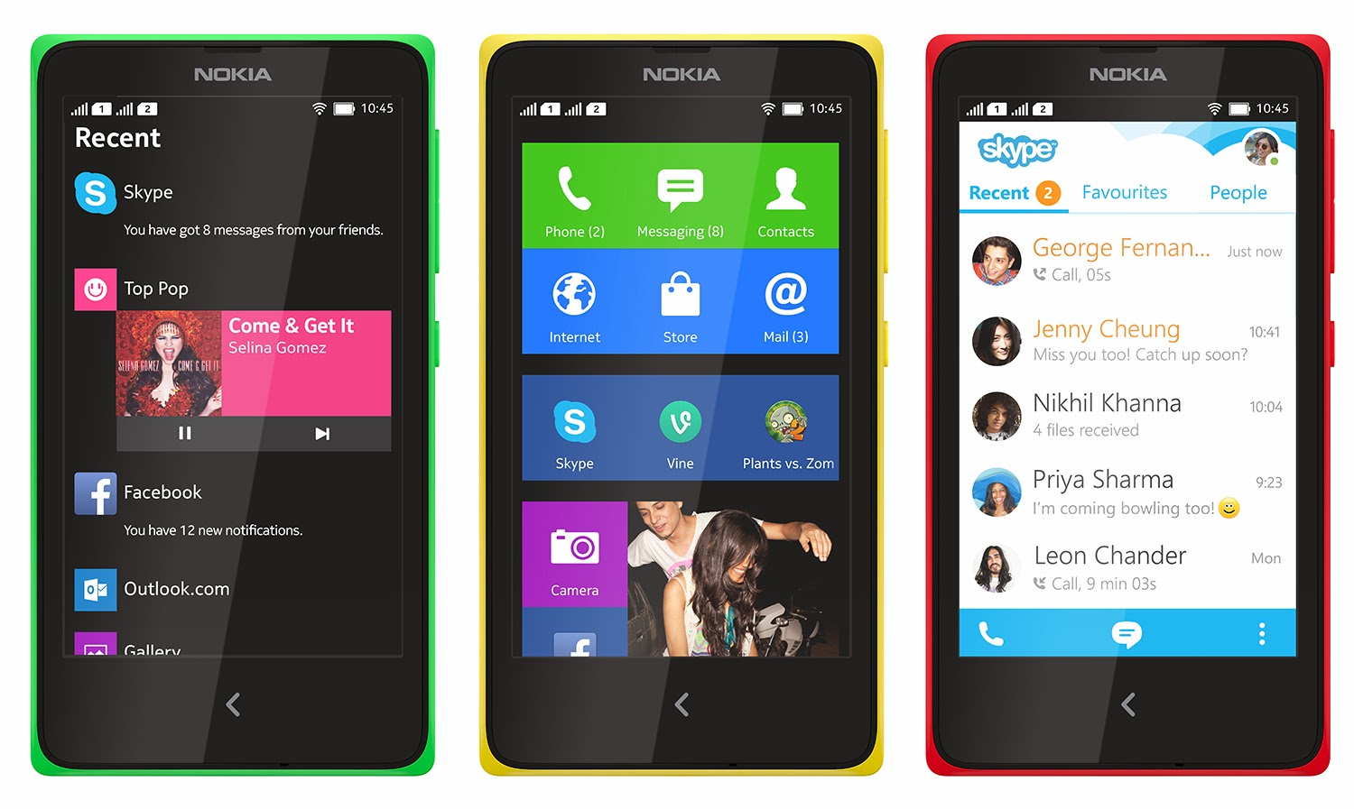 Nokia X Android smartphone  Nokia X Android smartphone launched at Rs 8,599 in India, Nokia on Monday, launched Nokia X, based on the Android OS,