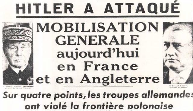 Que, le 1 er septembre 1939, débutait la seconde guerre mondiale