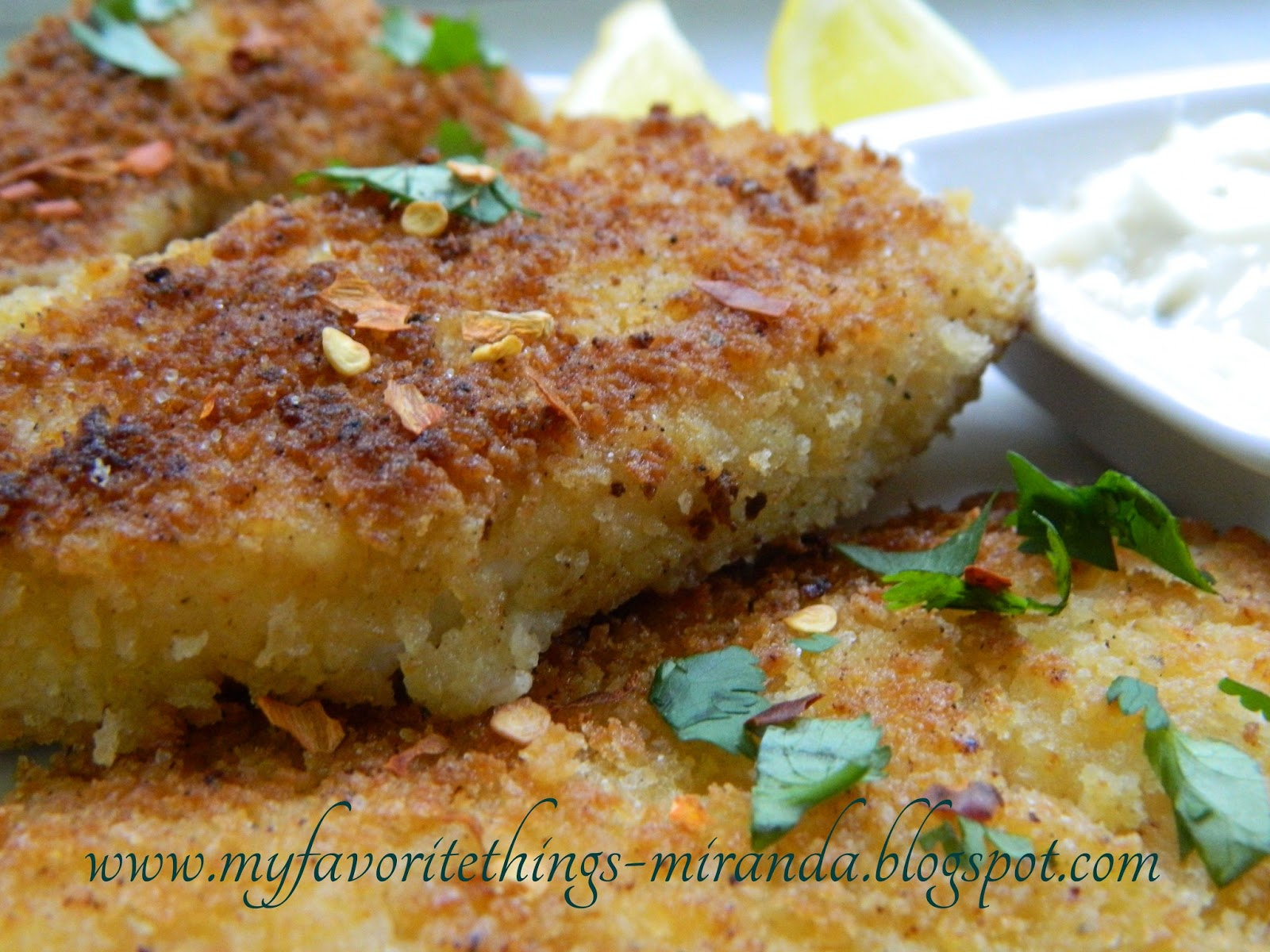 My favorite things so easy panko crusted fish sticks for Panko fried fish