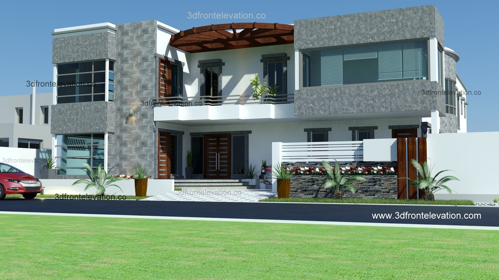 Front Elevation Of House In Karachi : D front elevation pakistan