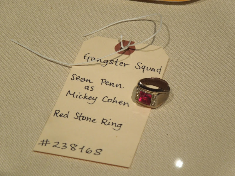 Sean Penn Gangster Squad Mickey Cohen red stone ring
