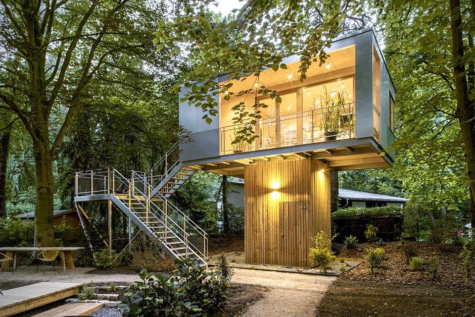 dise o de casa del rbol urbana en alemania quiero m s. Black Bedroom Furniture Sets. Home Design Ideas
