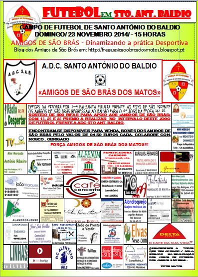 GRANDE JOGO DE FUTEBOL EM SANTO ANTÓNIO DO BALDIO