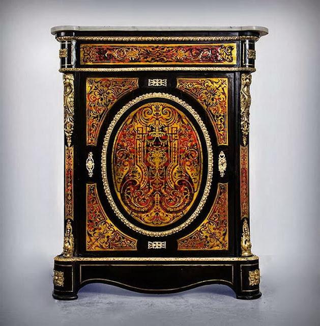 """Napoleon III """"Boulle"""" Style Side Cabinet, c. 1860"""