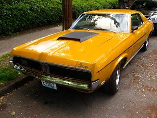 yellow 1969 Mercury Cougar