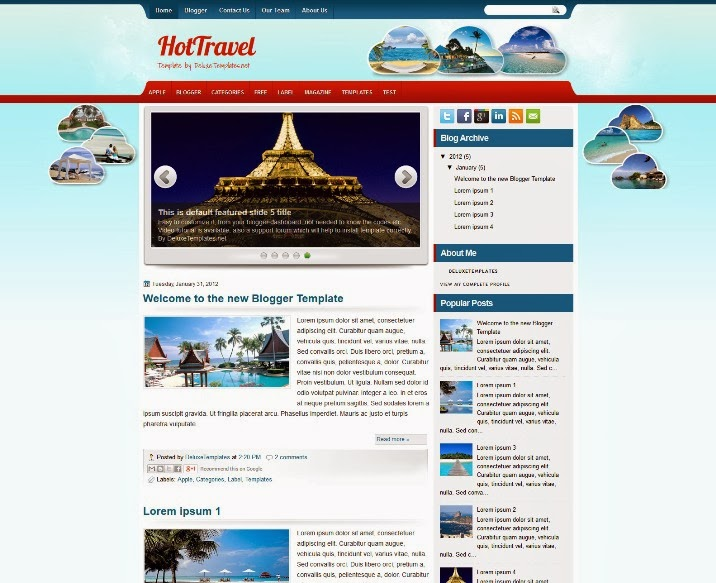 Travel Blogger Template